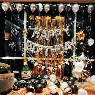 🚚 Happy birthday balloon decoration set up