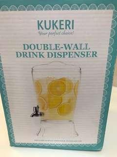 KUKERI DOUBLE-WALL DRINK DISPENSER WITH STAND