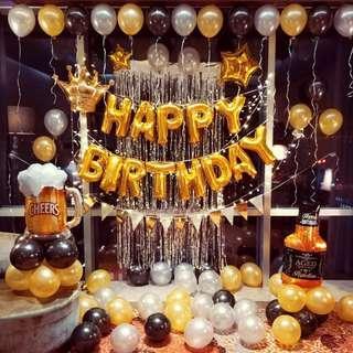 🚚 Birthday party balloon decoration set ups