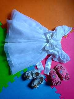 Off shoulder white dress for christening/event