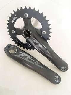 Used Bicycle Components — Shimano Zee M645 Crank + Brand New Zee 36T