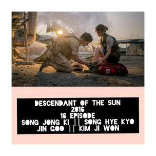 Drakor Descendant Of The Sun (2016)