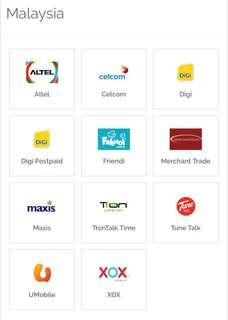 TOP up reload your Malaysia phone line