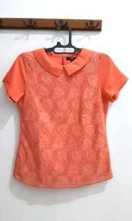 Blouse Peach Embroidery Cole