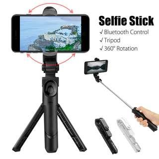 🚚 360 Degree Selfie Stick Tripod with Bluetooth Remote Control