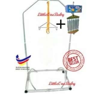 Baby Spring Cot Stand With Polo Electronic Automatic Baby Cradle