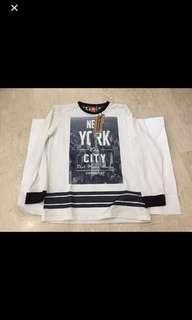 🚚 BNWT New York City Conquest Boy shirt/ top M 7/8 size and XXL 13/14/ black top/ white top/ long sleeve