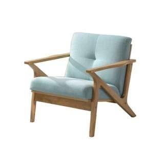 PRICEWORTH 1 SEATER LOUNGE WITH SOLID WOOD FRAME