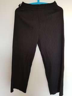 Black Wide Leg Elastic Pants