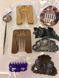 🚚 $12 for 8pcs NEW Assorted Hair Accessories