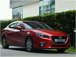Go jek rental partner Mazda 3 for rent!