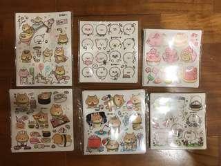 READ DESCRIPTION Shiba stationery stickers