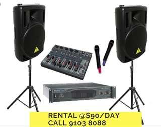 PA sounds speaker rental