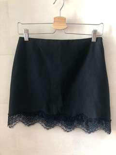 Zara Black Lace Skirt
