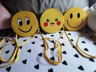Smiley sling bag
