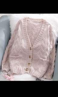 🚚 BN Pastel Pink Knitted Jacket
