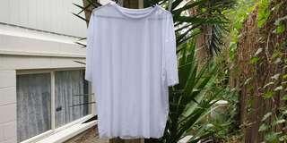 Mesh White Shirt