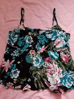 Forever 21 floral top with back slit