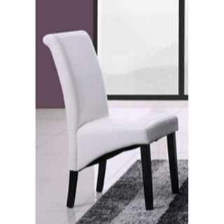 CLEARANCE SALE! AARON DINING CHAIR - WHITE PU