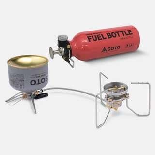 SOTO SOD-372 輕量多燃料汽化爐附燃料瓶 (預購) 四月初出貨
