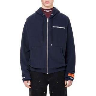 🚚 [SALE] Heron preston 18aw blue СТИЛЬ hoodie 深藍色 連帽外套