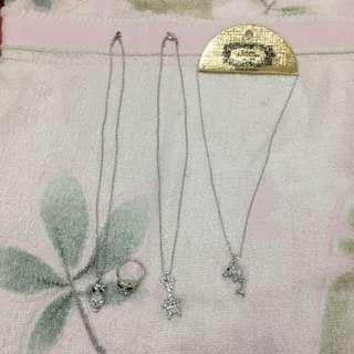 Silver Necklace & Ring