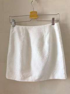 Net White Skirt
