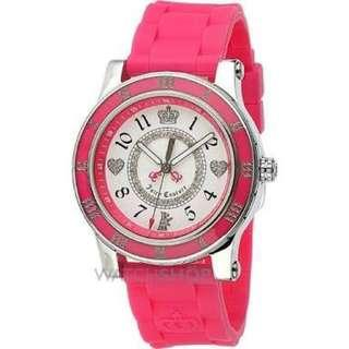 CLEARANCE: Juicy Couture Stainless Steel Pink Rubber Watch