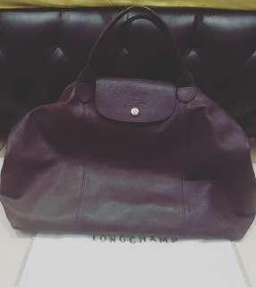 REPRICE Longchamp cuir maroon large