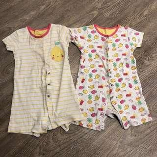 Mothercare Rompers 9-12mo
