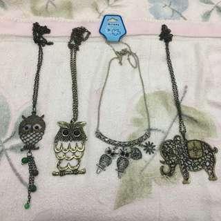 Kalung Fashion Burung Hantu/Vintage Owl Necklace