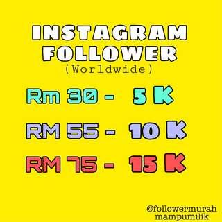 Follower Instagram Murah Gila !