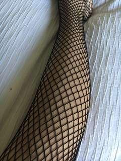 1x Black and 1x Tan Fishnet Tights