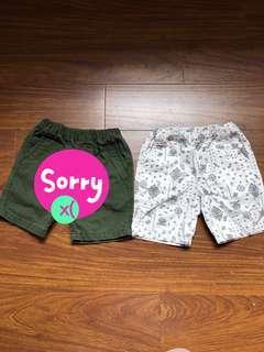 Uniqlo xs男童短褲