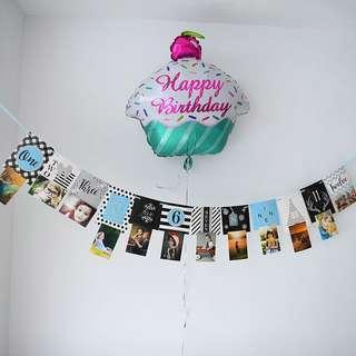 **NEW ARRIVAL** Birthday / Anniversary Milestone Banner Deco - Blue