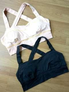 Lululemon Cross Back Bra (Set of 2), Size 12/ L-XL