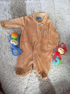 Jumpsuit/frogsuit onesie