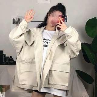 Apricot/green jacket