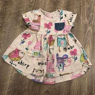Next baby girl dress 9-12mo