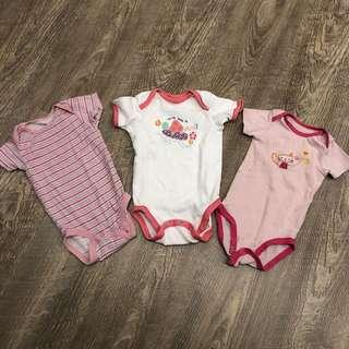 Baby girl rompers sets 6-12mo