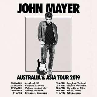 John Mayer Live in Singapore 2019 CAT 5 - Sect 108