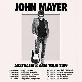 John Mayer Live in Singapore 2019 Cat 5 - Sect 134