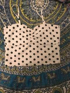 Polka dot crop