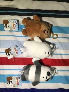 We bare bears keychain plushie
