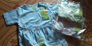 Baju bayi pendek