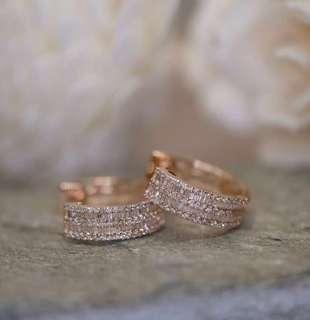 *price reduced* Authentic Diamond Multirow Earrings