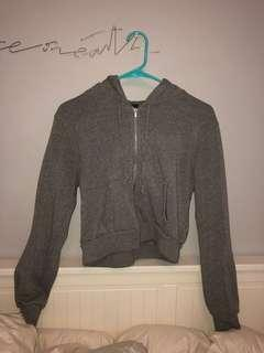 NEW Brandy Melville Crystal Grey Hoodie Pullover