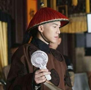 Yanxi palace autographed portable mini fan by lawrence wrong