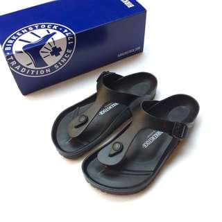 New Authentic Birkenstock Gizeh EVA Black Sandals