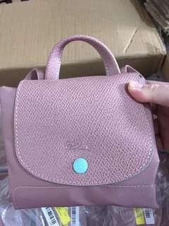 100% NEW longchamp le pliage backpack pink 背包 背囊 粉紅